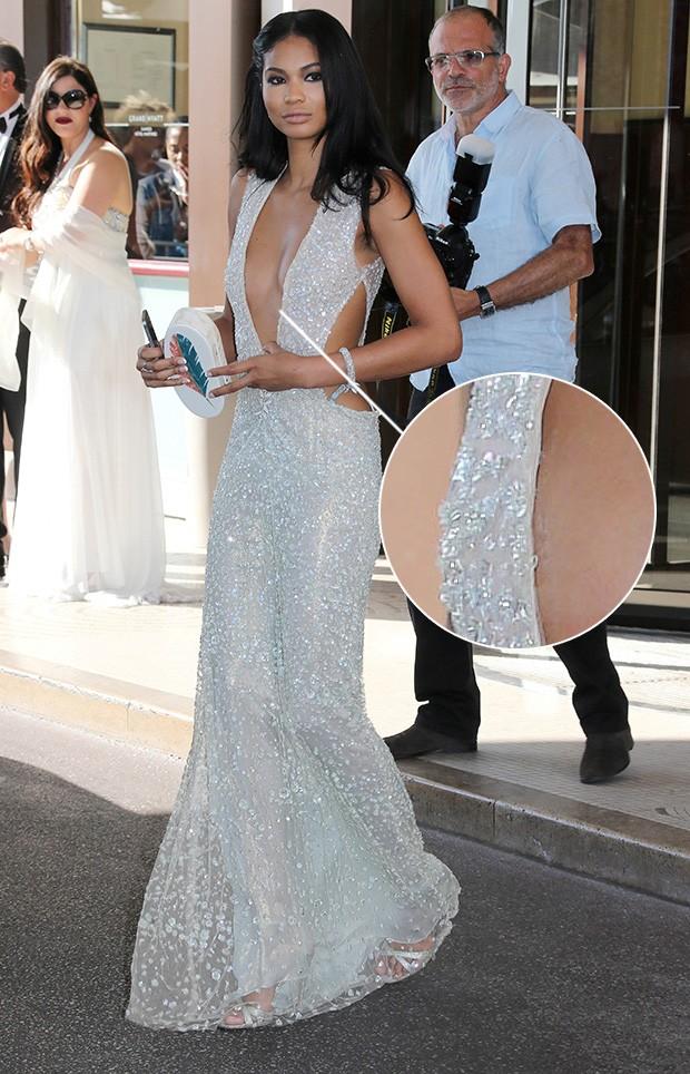 Chanel Iman em Cannes (Foto: AKM GSI)