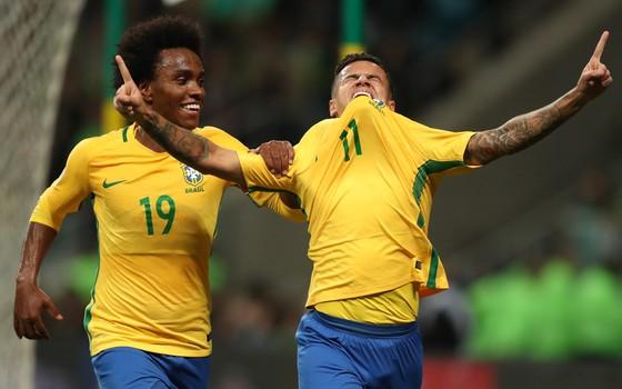 Brasil x Equador. A partida confirmou a classificação da seleção brasileira para a Copa de 2018 em 1º lugar nas Eliminatórias (Foto: Lucas Figueiredo / CBF)