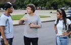 Rios dirige Antônio Carlos e Jeniffer no primeiro dia de gravações (Foto: Raphael Dias / TV Globo)