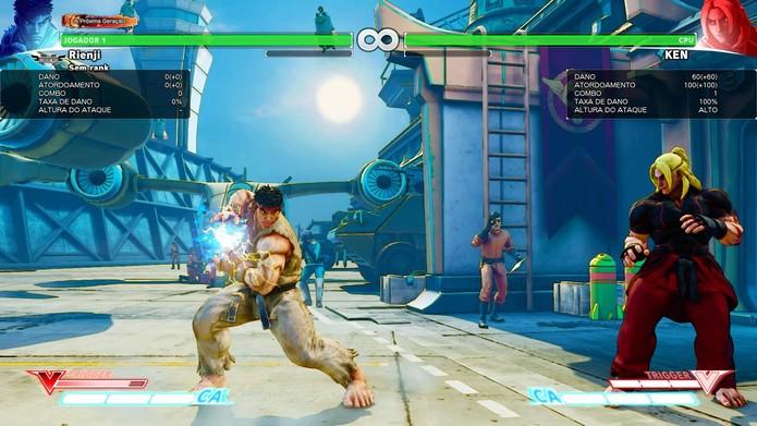 Hadouken carregado pelo V-Trigger em Street Fighter 5 (Foto: Reprodução/Felipe Vinha)