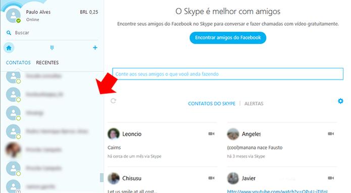 Abra uma janela de chat com um amigo estrangeiro  (Foto: Reprodução/Paulo Alve)