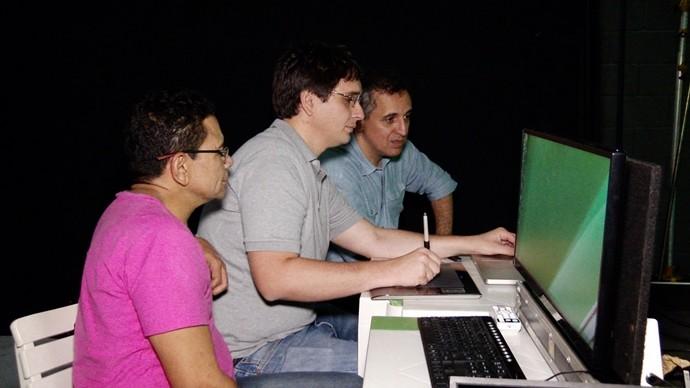 No universo digital, Bené Barbosa conta com as feras Marcio Ramos e Jorge Uchoa nos bastidores. (Foto: Produção / Se Liga VM)