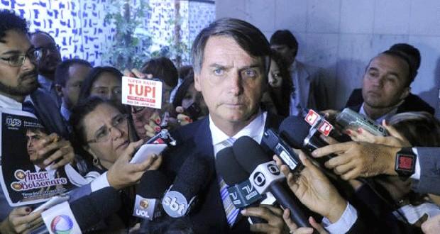 Jair Bolsonaro concede entrevista coletiva na Câmara  (Foto: Agência Câmara)