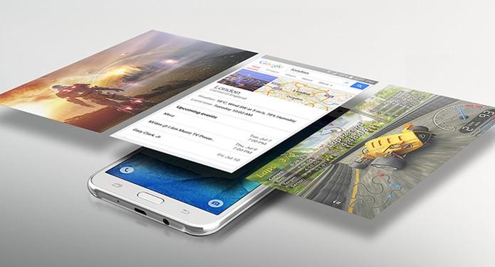 Galaxy J7 é um pouco mais barato do que o Zenfone 2 (Foto: Divulgação/Samsung)