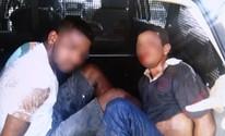 Jovem preso por roubo é linchado e comparsa fica ferido (Reprodução/ TV Anhanguera)
