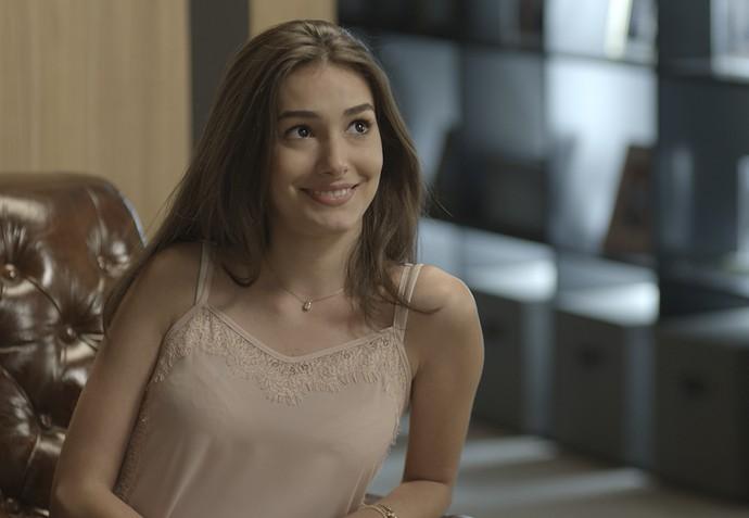 Yasmin fica surpresa com os planos do irmão (Foto: TV Globo)