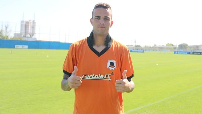 Luan Grêmio camisa Cartola FC (Foto: Eduardo Moura/Globoesporte.com)