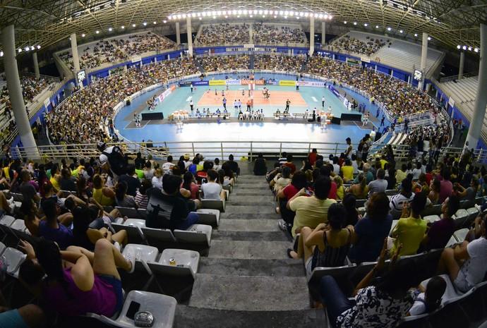 Arena Amadeu Teixeira Praia Clube e São Caetano (Foto: Antônio Lima/Sejel)
