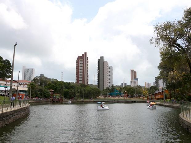 Lagoa Manoel Felipe, na Cidade da Criança (Foto: Demis Roussos/Assecom)