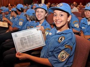 Guardas mirins foram formados nesta segunda-feira (30) em Macaé (Foto: Divulgação)