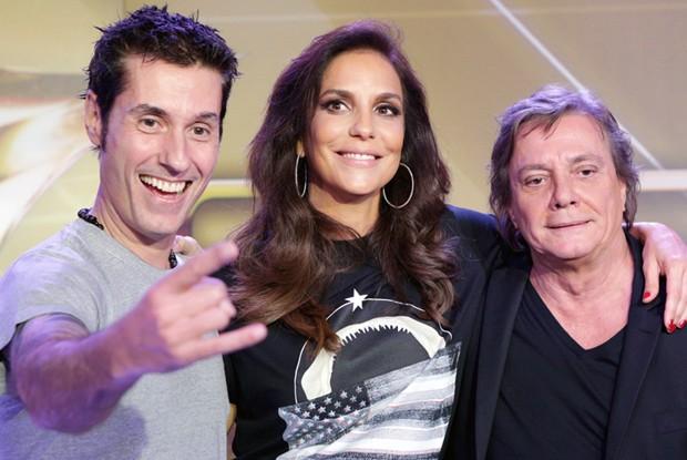 Trio apresentadores SuperStar (Foto: Fábio Rocha/ TV Globo)