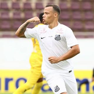 Natan, Santos x Confiança sub-20, Copa São Paulo (Foto: Célio Messias/Estadão Conteúdo)