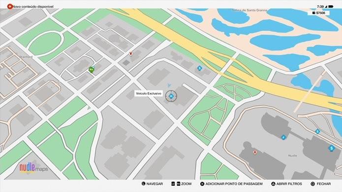 Indicador aparece no mapa de Watch Dogs 2 quando um carro secreto estiver próximo (Foto: Reprodução/Felipe Demartini)