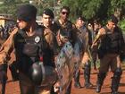 Polícia cumpre reintegração de posse em Santa Tereza do Oeste, no Paraná