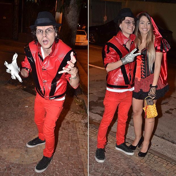 Pe Lanza e a namorada, Gabriela Merjan (Foto: Caio Duran e Thiago Duran/AgNews)