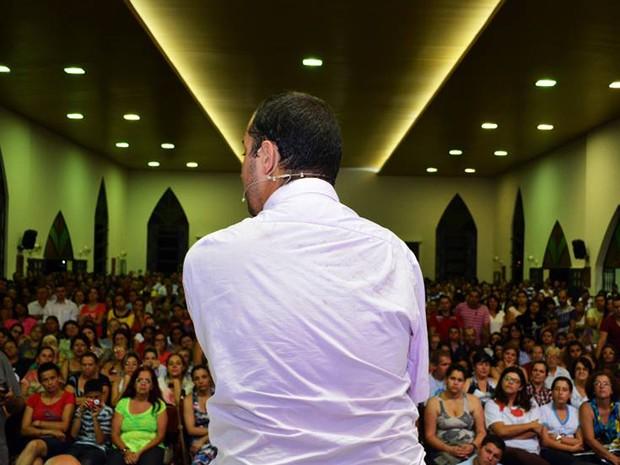 David Cesar, durante palestra no fim de 2013 (Foto: David Cesar/Arquivo pessoal)