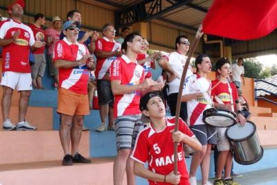 Torcida do Comercial-MS na abertura do campeonato estadual sub-19 (Foto: Divulgação/Comercial-MS)