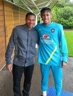Wellington Silva e Neymar (Foto: Arquivo Pessoal)