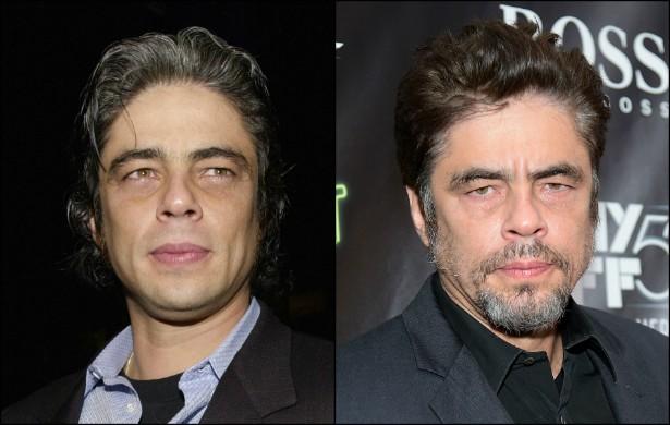 Para muita gente, Benicio del Toro continua sendo galã. Pode ser, mas o astro porto-riquenho envelheceu demais de 2000, quando tinha 33 anos, para 2014. Hoje o ator tem 47. (Foto: Getty Images)