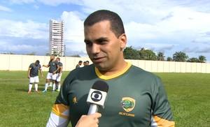 Daniel Lobato, técnico do Rio Branco Rugby (Foto: Reprodução/TV Acre)
