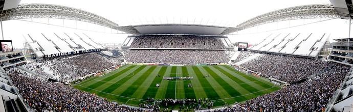 torcida Corinthians jogo Figueirense Arena Corinthians (Foto: Getty Images)