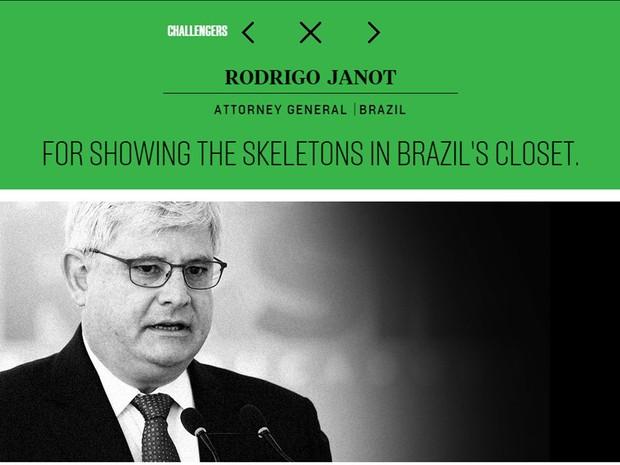 Revista americana lista Janot entre os 100 pensadores globais de 2015 (Foto: Reprodução / Foreign Policy)