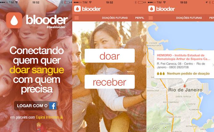 Blooder ajuda a conecta quem quer doar sangue com quem precisa dele (Foto: Divulgação/AppStore)