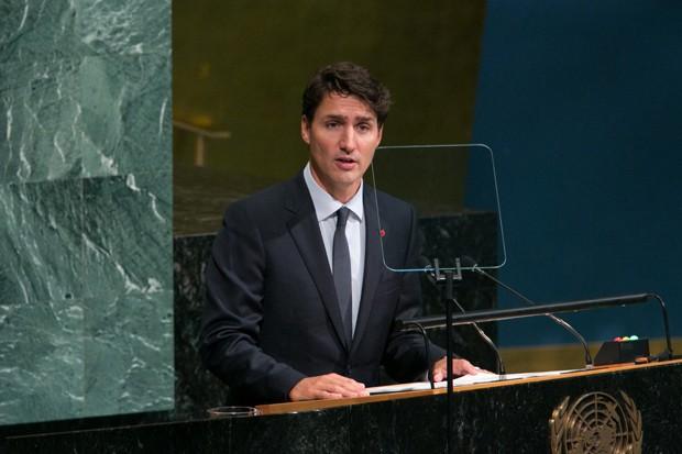 Justin Trudeau, primeiro ministro do Canadá, vira notícia ao usar meias de personagem de Star Wars (Foto: Getty Images)