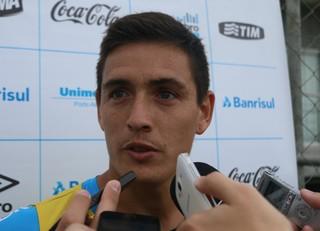 Matias Rodríguez Grêmio entrevista (Foto: Eduardo Deconto/GloboEsporte.com)