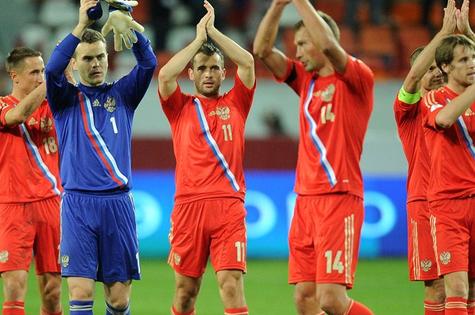 Jogadores da Rússia, país sede da Copa de 2018 (Foto: Reprodução)