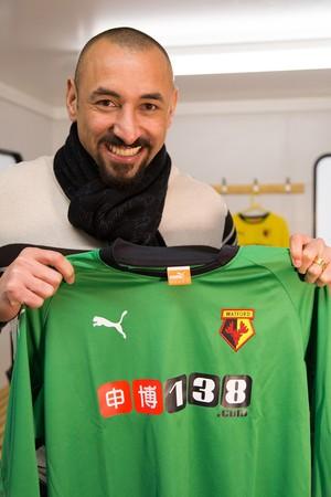 Gomes, goleiro do Watford (Foto: Ulisses Neto)