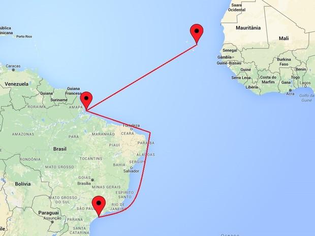 Africano vive em Cabo Verde, na Africa, e foi encontrado no litoral norte do Brasil (Foto: G1)