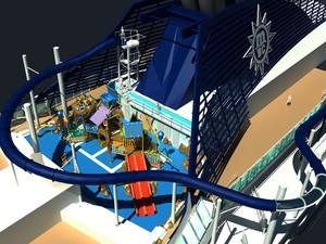 Toboágua gigante de navio da MSC (Foto: Divulgação)