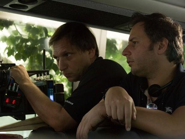 Afonso durante as gravações de 'Presságios de um crime' (Foto: Fátima Gigliotti/Diamond Films Brasil)