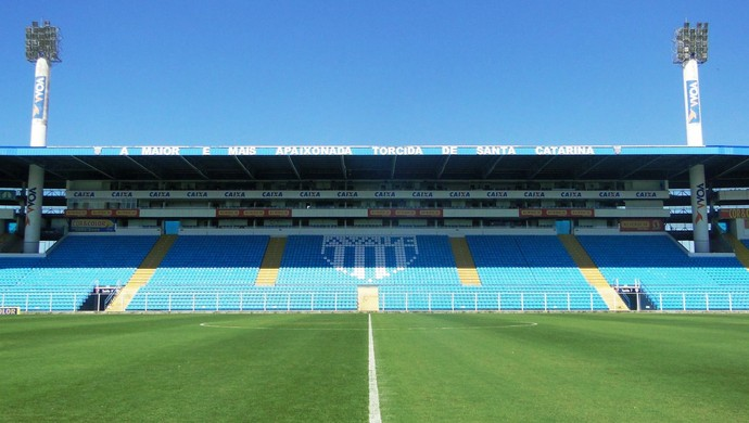 TR estádio Ressacada (Foto: André Palma Ribeiro/Avaí FC)