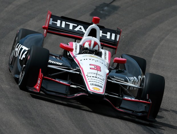 Hélio Casteoneves Indy Iowa (Foto: Agência Getty Images)