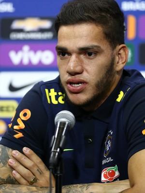Ederson Coletiva Seleção Brasileira (Foto: Lucas Figueiredo / MoWA Press)