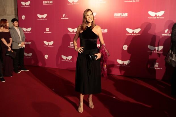 Carla Daniel participou do festival de cinema do Rio (Foto: Anderson Barros/Ego)