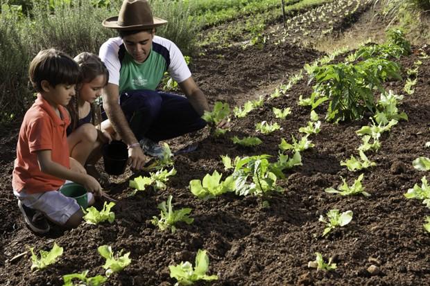 As crianças também podem desfrutar de um tempo na horta do local  (Foto: Divulgação)