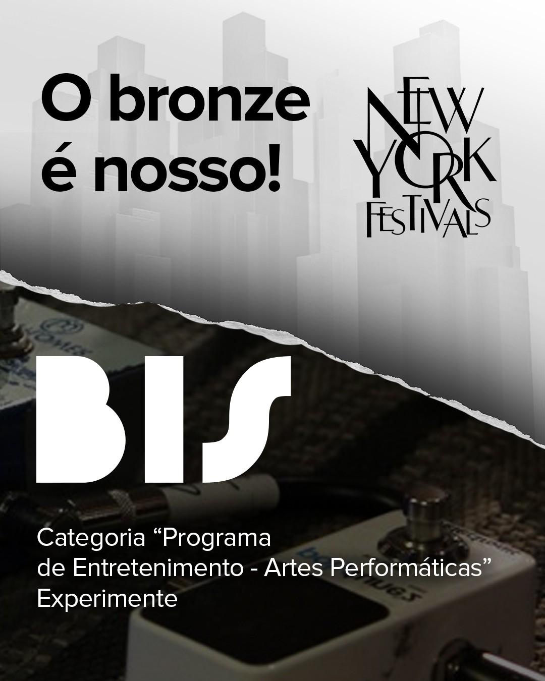 O BIS levou o bronze na categoria 'Programa de Entretenimento - Artes Performticas' com 'Experimente' (Foto: Divulgao)