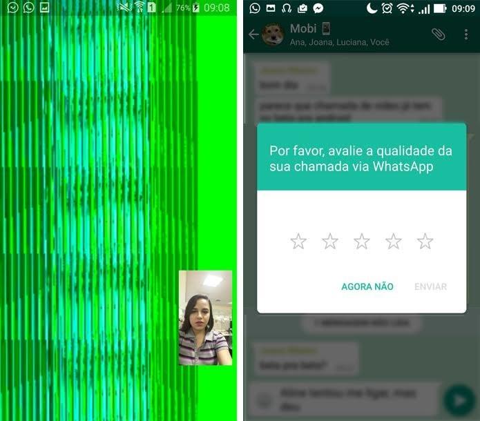 Chamada de vídeo do WhatsApp falha nos primeiros testes (Foto: Aline Batista/TechTudo)