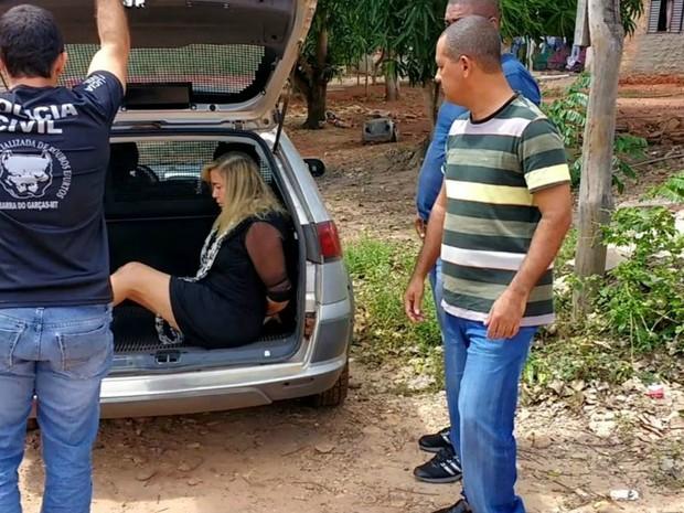 Giselma Campos foi presa em MT nesta quinta-feira (6). (Foto: Divulgação/Polícia Civil-MT)