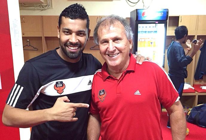 Andre Santos e Zico, FC Goa (Foto: Divulgação )