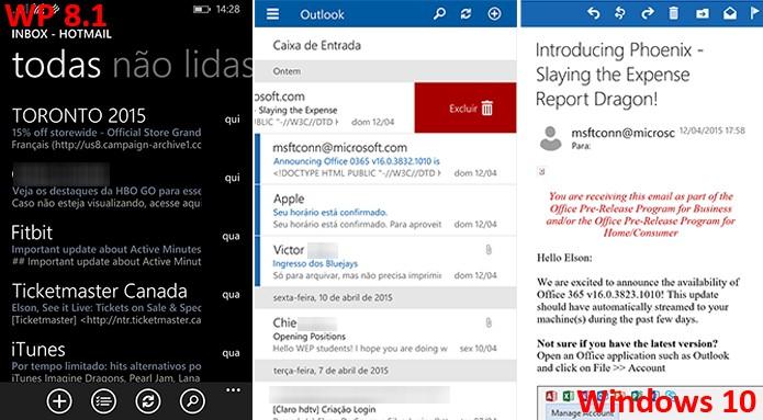 Outlook Mail ganhou melhorias consideráveis no Windows 10 (Foto: Reprodução/Elson de Souza)