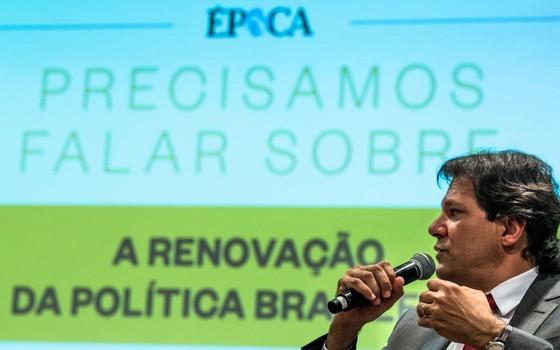 Fernando Haddad no debate promovido por ÉPOCA (Foto: João Castelano - Época)