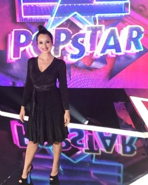 Sabrina Parlatore nos estúdios do 'Popstar' (Foto: Reprodução / Instagram)