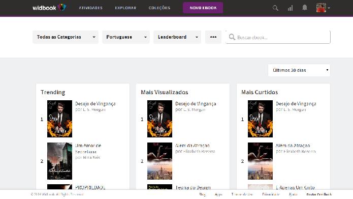 Ideal para encontrar textos independentes, o Widbook possui centenas de e-books grátis (Foto: Daniel Ribeiro)