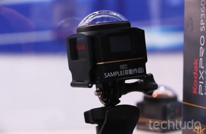 Kodak PixPro SP360 4K, câmera 360º (Foto: Marlon Câmara/TechTudo)