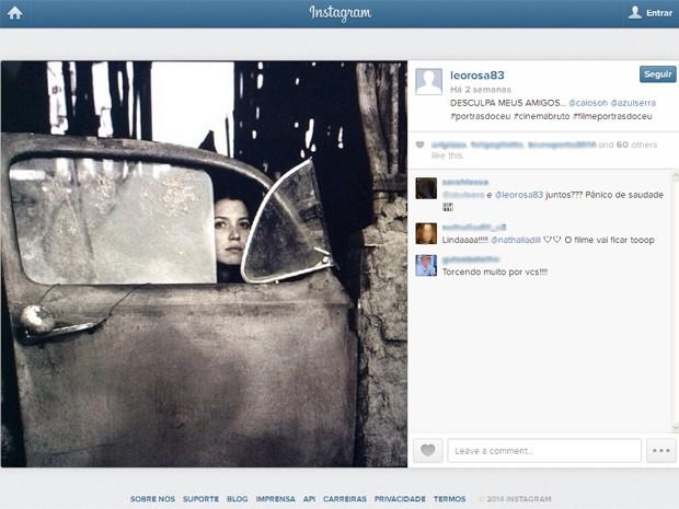 Léo Rosa postou foto de cena com Nathalia Dill no Instagram (Foto: Reprodução/Instagram/@leorosa83)