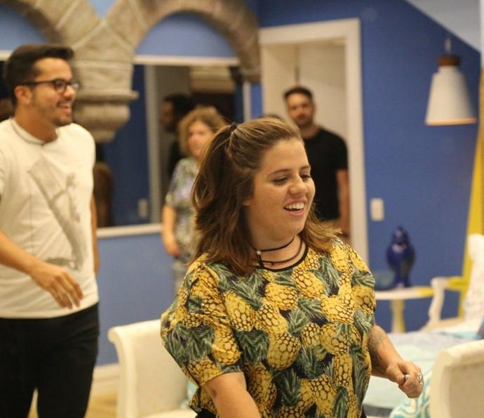Hora de conhecer o quarto azul do BBB17 (Foto: Paulo Belote/Globo)